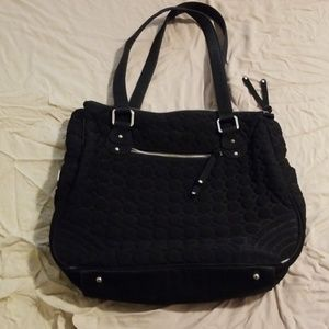 Vera Bradley Black Quilted Tote Purse
